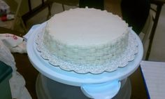 #wiltoncontest / In course 2 I learned how to do the basket technique in buttercream.  I really love it!  I took the class in Hobby Lobby in Denton TX.