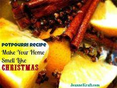 EASY Simmering Potpourri recipe - Make your home smell like Christmas!