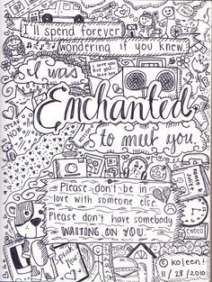 "AWW I LOVE the song ""Enchanted"""