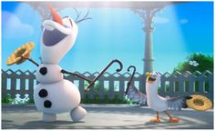 "In this scene from Frozen, Olaf imagines what life would be like for a snowman in summer. Performed by the voice of Olaf, Josh Gad, ""In Summer"" is an origina. Frozen Disney, Olaf Frozen, Hans Frozen, Frozen Sing, Disney Magic, Elsa Olaf, Elsa Anna, Disney Gifs, Disney Pixar"