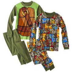 Teenage Mutant Ninja Turtles 4-Piece Short-Sleeve Pajama Set TARGET