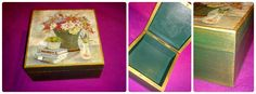 #wooden #box #vintage #decoupage #DIY https://www.facebook.com/pages/Dimitras-Retro-Decoupage/532590893485180