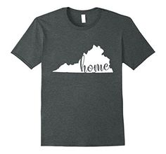 Mens Virginia Home State Shirt VA State Gift 2XL Dark Hea... It's wild, beautiful Virginia and you fell in love with it the minute you looked around at it. When you wear this tee you can hear Virginia calling you home.  Virginia State T-shirt, Virginia Home Shirt, VA Shirt, Virginia Tee, VA State Pride Gifts, Virginia Map Tshirt