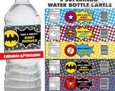 Téléchargement étiquettes de bouteille d'eau par WhiteFoxGraphics