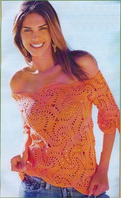 Яркий, солнечный пуловер с оголенными плечами - модель для смелых :) Если вам нравится приковывать взгляды окружающих, то такой пуловер н...