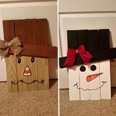 Reversible scarecrow snowman pallet slats was handmade project made by InspiredArtCrafts and good for indoor use or in a covered area outdoors to avoid weathering