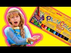 Nos hemos divertido mucho viendo a Elsa de Frozen pintando con nuestros #Playcolor One. Un vídeo muy divertido de SuperHero VS WorldOfToys