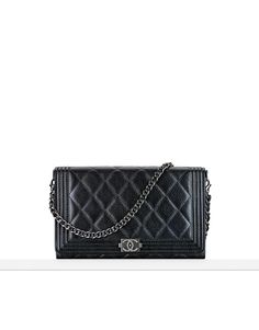 Wallet in quilted lambskin with... - CHANEL