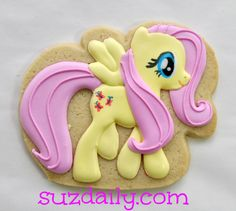 How to make My Little Pony: Fluttershy cookies. This could easily be done with any of the ponies! Step by step instructions (with pictures!)