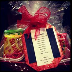 Gift basket ideas ... movie night