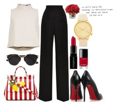 """#PolyPower"" by ana-anny-blagojevic ❤ liked on Polyvore featuring Dolce&Gabbana, Vilshenko, TIBI, Christian Louboutin, Christian Dior, Komono, Chanel, Smashbox and PolyPower"