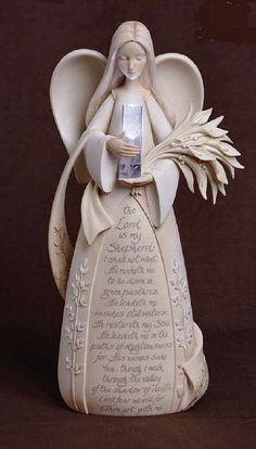 Psalm 23 Prayer Angel Figurine