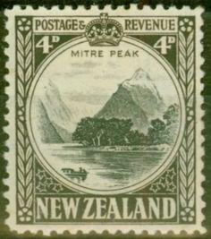 Stamp: Mitre Peak (New Zealand) (Second Pictorials) Mi:NZ 562 Old Stamps, Rare Stamps, Vintage Stamps, Vanuatu, Commonwealth, Nz Art, Postage Stamp Art, Kiwiana, Vintage Artwork