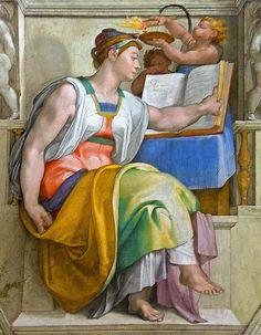 Cappella Sistina, Erythraean Sibyl   #TuscanyAgriturismoGiratola