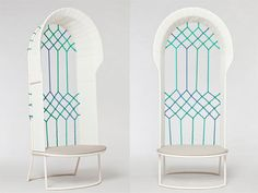 At this year's Tent London Mars Designstudio launched the Window Chair and Couch, a project influenced by ancient window forms.