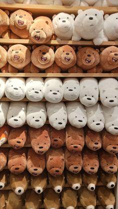 We Bare Bears Wallpapers, Cute Wallpapers, Bear Wallpaper, Iphone Wallpaper, Girl Wallpaper, Osos Cartoon Network, Kawaii Plush, Cute Stuffed Animals, Bear Doll
