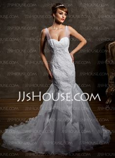 Wedding Dresses - $229.49 - Mermaid Sweetheart Court Train Satin Tulle Wedding Dress With Ruffle Lace Beadwork (002012818) http://jjshouse.com/Mermaid-Sweetheart-Court-Train-Satin-Tulle-Wedding-Dress-With-Ruffle-Lace-Beadwork-002012818-g12818