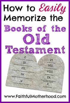 Do you want your children to know the Old Testament? Here are my easy tips & tricks that I use with my students to memorize the books of the Old Testament. Help your child to easily memorize the Books of the Old Testament. Family Bible Study, Bible Study Tips, Bible Study For Kids, Bible Lessons, Kids Bible, Object Lessons, Old Testament Bible, Raising Godly Children, Helping Children