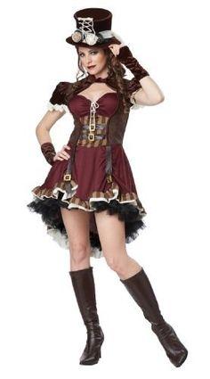steampunk chica adulto california trajes femenina,