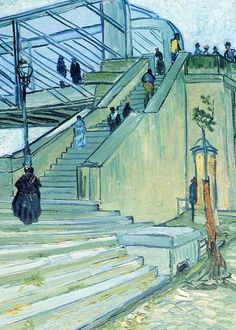 Vincent Van Gogh - Post Impressionism - The bridge of Trinquetaille - 1888 Art Van, Van Gogh Art, Vincent Van Gogh Obras, Vincent Willem Van Gogh, Paul Gauguin, Dutch Artists, Great Artists, Van Gogh Pinturas, Van Gogh Paintings