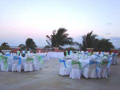 Ocean C Turquesa Puerto Morelos Mexico Blue And Green Terrance Wedding Reception