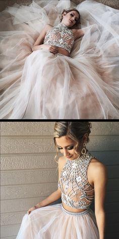 2 piece prom dresses, long prom dresses,hot selling prom dresses, 2017 prom dresses, cheap prom dresses
