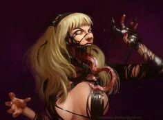 Cartoons And Heroes — phrrmp:   Venom Gwen Commission by PACkO-MX