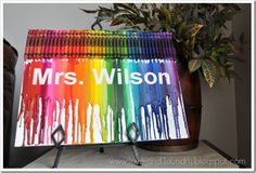 Love this personalized crayon art #craft
