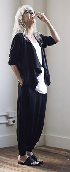 I love this look from Eileen Fisher, as modeled by Rebecca.  That's all.  Goodnight <3