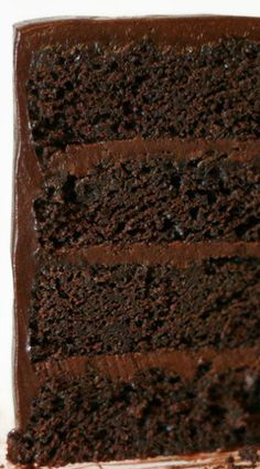 American Mud Cake with Sour Cream Chocolate Frosting ~ It will knock your socks off.