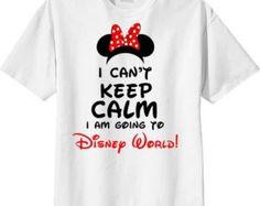 Personalized Disney T Shirt , Disney World , Keep Calm