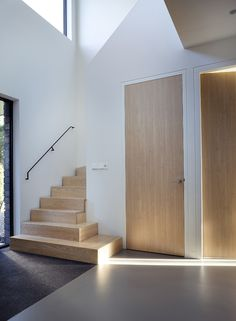 New Stairs Architecture Entrance Hallways 55 Ideas Home Stairs Design, House Design, Modern Stairs, Modern Hall, Modern Door, Escalier Design, Flur Design, Wooden Door Design, Stairs Architecture