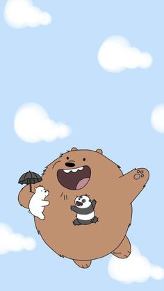 Pink Wallpaper Girly, Bear Wallpaper, Cute Disney Wallpaper, Wallpaper Iphone Cute, Cute Cartoon Wallpapers, Galaxy Wallpaper, Ice Bear We Bare Bears, We Bear, Cartoon Network