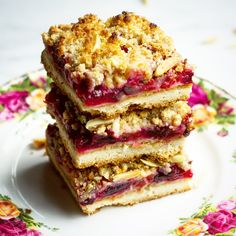 Plum Squares with Almond Crumble