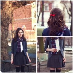 Red bow  (by Weronika Z.) http://lookbook.nu/look/4748577-Red-bow