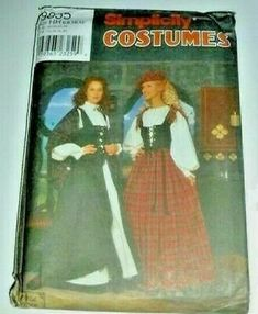 Find many great new & used options and get the best deals for Medieval Renaissance Tartan Plaid Scotand Lass LARP Costume Sewing Pattern at the best online prices at eBay! Free shipping for many products! Halloween Costume Sewing Patterns, Costume Patterns, Halloween Costumes, Tartan Plaid, Larp, Time Travel, Outlander, Renaissance, Medieval