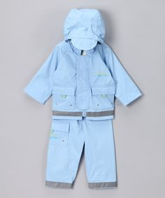Loving this Blue Raincoat & Pants - Infant on #zulily! #zulilyfinds