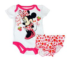 Disney Baby Girls Newborn Minnie Mouse 2 Piece Bodysuit Diaper Set 09 Months 36 months Sweet Girl *** To view further for this item, visit the image link. (This is an affiliate link) #BabyGirlBodysuits