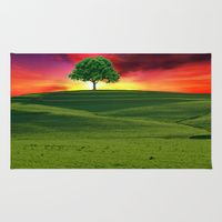 Area & Throw Rug featuring One Tree Hill by gypsykissphotography