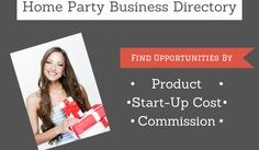 Home Party Business Directory Home Party Business, Best Home Based Business, Successful Home Business, Creating A Business, Promote Your Business, Work From Home Jobs, Make Money From Home, How To Make Money, Direct Sales Party