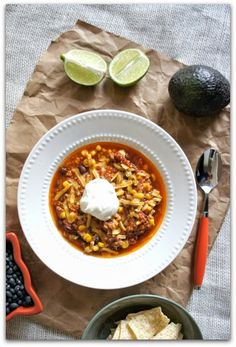 Crock pot recipe for easy taco soup.  This is so easy to throw in the crockpot and everybody loves it! #soup #slowcooker #crockpot