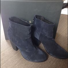 Rag and bone classic Newbury navy boot NWT! Never worn. Size 11. Comes with box and duster. They are navy blue suede. Retails for $495 so this is half the price and they are brand new! No trades please. rag & bone Shoes Ankle Boots & Booties