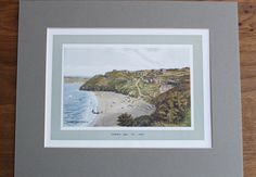 Cornwall ST IVES Carbis Bay Edwardian Vintage Colour Plate Cornish Coastal Print…