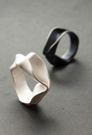 Silver rings by Mailn Winberg