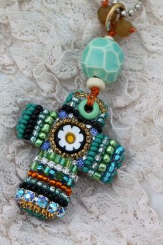 Beautiful Bead Mosaic Cross