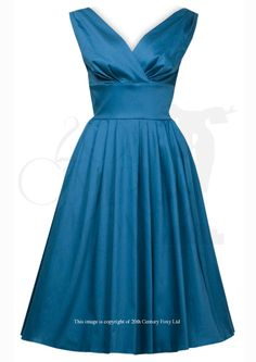 1950s Trudy Party Dress - Teal
