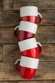 DIY: two-tone dipped mugs