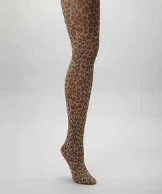 Take a look at this Brown & Black Leopard Tights on zulily today!