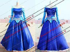 Princess Aurora Blue Dress | Hot sale Custom made Sleeping Beauty Princess Aurora Dress Blue ...