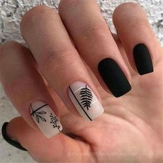 Want to try black acrylic nails but never knew what you wanted! We have put together a quick list of our favorite black acrylic nail designs to get your imagination going! Nagellack Design, Nagellack Trends, Black Acrylic Nails, Black Nails, Classy Nail Designs, Short Nails Art, Luxury Nails, Dream Nails, Nagel Gel